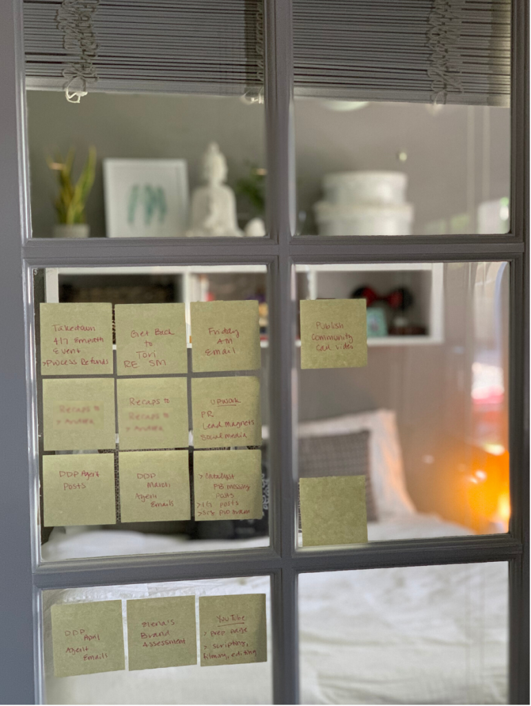 sticky note productivity system
